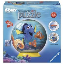 Puzzle 3D In cautarea lui Dory, 108 piese Ravensburger