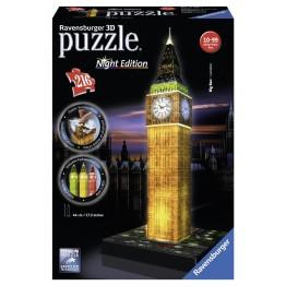 Puzzle 3D Big Ben editie luminoasa, 216 piese Ravensburger