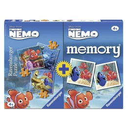 Puzzle + Joc Memory Finding Nemo, 3 bucati in cutie 25/36/49 piese Ravensburger