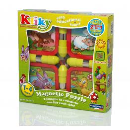Puzzle magnetic animale de la ferma Kliky