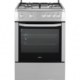 Aragaz Beko CSG62110DX, 4 arzatoare, rotisor, grill, aprindere electrica, timer, inox