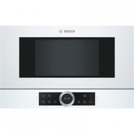 Cuptor cu microunde incorporabil Bosch BFL634GW1, putere 900 W, capacitate 21 l, 7 programe, touch control, display TFT