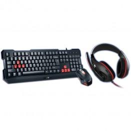 Kit mouse tastatura si casti Genius KMH-200 , Gaming , USB , Negru