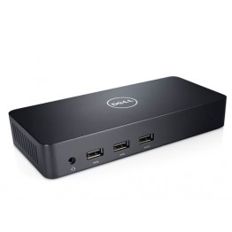 Docking station Dell 452-BBOT, HDMI x2, Display Port x1, RJ-45 Gigabit, Negru