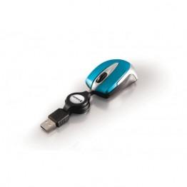 Mouse Verbatim Go Mini Travel , USB , Optic , Albastru/Alb