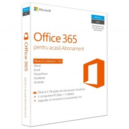 Aplicatie Microsoft Office 365 Home , 1 An , 5 Utilizatori