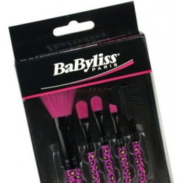 Set pensule Make-Up BaByliss , 5 pensule , Negru-Roz
