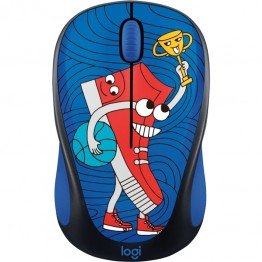 Mouse wireless Logitech M238 Doodle Collection , Fara Fir , Optic , 1000 DPI , SneakerHead