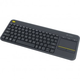 Tastatura Logitech K400 Plus Touch pad , Multimedia , Fara Fir , USB Logitech Unifying receiver , Negru