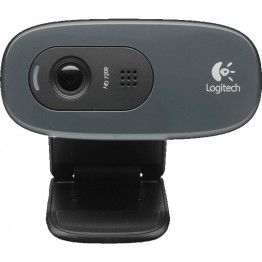 Camera web Logitech C270 , HD 720p , Logitech Fluid Crystal , Negru