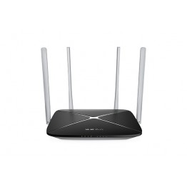 Router wireless Mercusys AC12 , Dual Band , 1200 Mbps , Negru