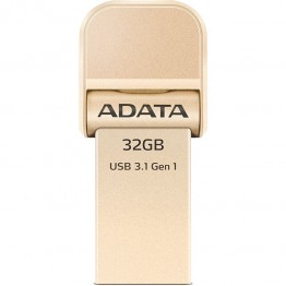 Stick memorie AData AI920 , 32 GB , USB 3.1 , Lightning , Gold