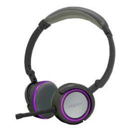 Casti audio Approx Stereo , Design pliabil , 3.5 mm Jack , Gri/Mov