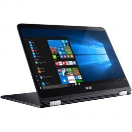Laptop 2 in 1 Acer Spin 7 SP714-51 14 Inch Full HD IPS Intel Core I7-7Y75 8 GB RAM 512 GB SSD Intel HD 615 Windows 10 Home Negru