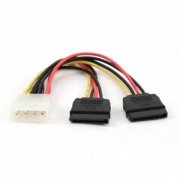 Cablu alimentare Gembird CC-SATA-PSY, Molex la SATA x2, 15 cm