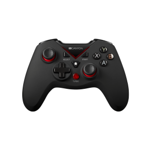 Gamepad wireless Canyon CND-GPW8 , 16 Butoane , PC , XBox One , PlayStation 3 , PC , Android , Negru