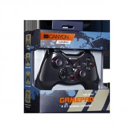 Gamepad wireless Canyon CND-GPW7 , XBox 360 , PlayStation 3 , PC , Android , Negru