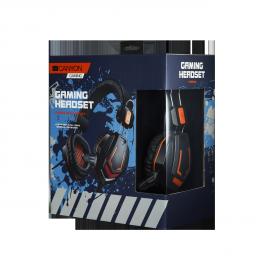 Casti Canyon CND-SGHS3 , Gaming , 2x 3.5 mm Jack , Peste cap , Negru Portocaliu