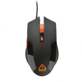 Mouse gaming Canyon Vigil , Optic SunPlus , 2400 DPI , Negru/Portocaliu