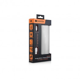 Baterie externa Canyon CNE-CPB130W 13000 mAh , USB 2x , Alb