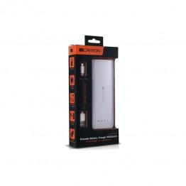 Baterie externa Canyon CNE-CPB156W 15600 mAh , USB 2x , Alb