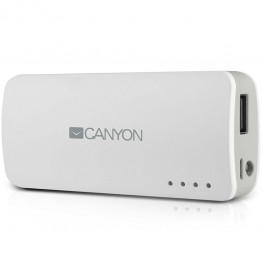 Baterie externa Canyon CNE-CPB44W 4400 mAh , USB , Alb