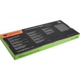 Tastatura multimedia Canyon CNS-HKB6US , USB , Iluminare LED , Negru