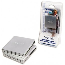 Cititor de carduri Logilink CR0018, SD/microSD, Argintiu