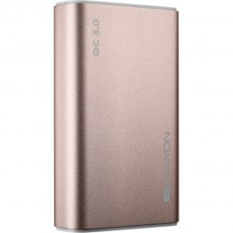 Baterie externa Canyon CND-TPBQC10RG, Litiu Polimer, 10000 mAh, Quick Charge 3.0, Gold rose