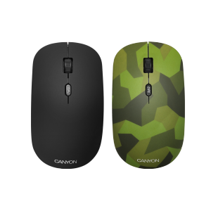 Mouse wireless Canyon Military, 1600 DPI, 4 Butoane