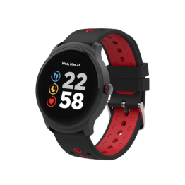 Smartwatch Canyon Oregano, 1.3 Inch, IP68, Compatibil iOS si Android, Negru Rosu