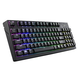 Tastatura gaming Cooler Master Masterkeys Pro M RGB, Mecanica, Cherry MX Red, Iluminare LED