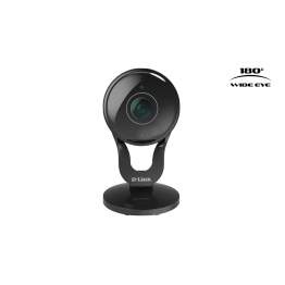 Camera de supraveghere IP D-Link DCS-2530L , Senzor CMOS 2MP , Full HD , 180 Panoramic , WiFi integrat , Negru