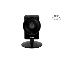 Camera de supraveghere IP D-Link DCS-960L , Senzor CMOS 1MP , Wide Eye 180 de grade , WiFi integrat , Negru