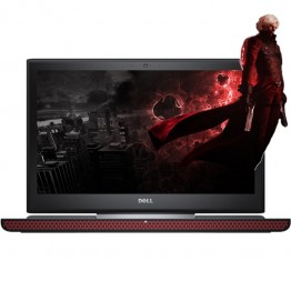 Laptop Dell Inspiron 7566 Gaming 15.6 Inch Full HD Intel Core I7-6700HQ 8 GB DDR4 500 GB HDD 128 GB SSD nVidia GeForce GTX 960M 4 GB GDDR5 Windows 10 Home Negru