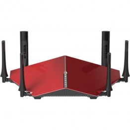 Router wireless D-Link AC1900 , Tri Band , 3200 Mbps , 10/100/1000 Mbps , USB 3.0 , Rosu