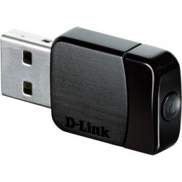 Adaptor wireless D-Link USB AC600 Dual Band Micro Negru