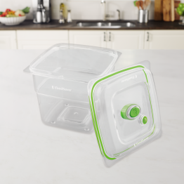 Caserola vidare Food Saver , Capacitate 1.893 Litri , Fara BPA , Transparent