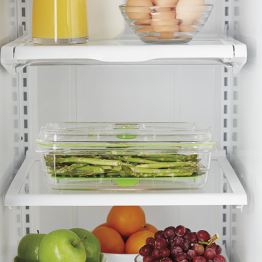 Caserola vidare Food Saver , Capacitate 2.366 litri , fara BPA , Transparent