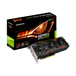 Placa video Gigabyte nVidia GeForce GTX 1070 G1 Gaming , 8 GB GDDR5 , 256 Bit