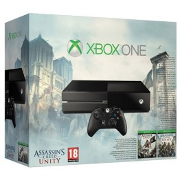 Consola gaming XBox One 500 GB HDD Assassin's Creed Bundle Black Flag si Unity