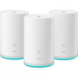 Router wireless Huawei Q2 Pro, Sistem mesh, 1200 Mbps, Kit cu 3 dispozitive