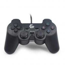 Gamepad Gembird JPD-UDV-01 , Dual Vibration , PC , USB , Negru