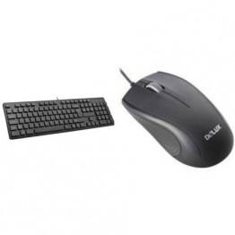 Kit mouse tastatura Delux KA150, USB, Negru