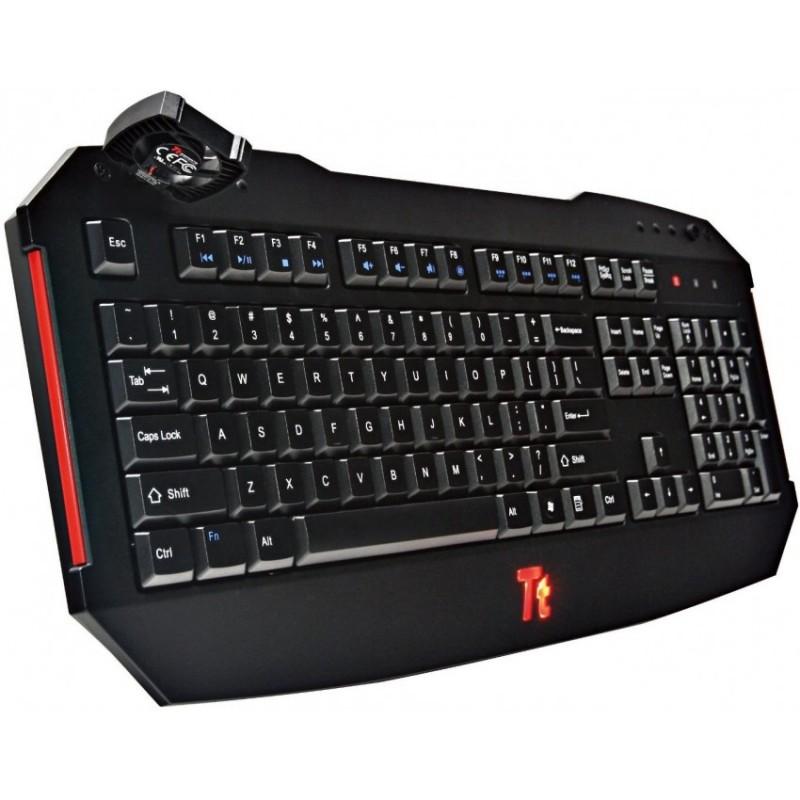 Tastatura ThermalTake Tt eSports Challenger , Gaming , Iluminare LED , Negru