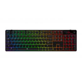 Tastatura gaming Thermaltake Tt eSports Poseidon Z , Iluminare LED RGB , Switch-uri mecanice blue , Negru