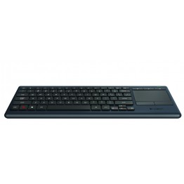 Tastatura wireless Logitech iluminare LED K830 , Multimedia , Bluetooth Smart , Touchpad , Negru