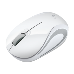 Mouse Logitech M187 , Wireless , Design Mini , 1000 DPI , Alb