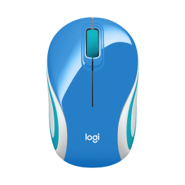 Mouse Logitech M187 , Wireless , Design Mini , 1000 DPI , Albastru