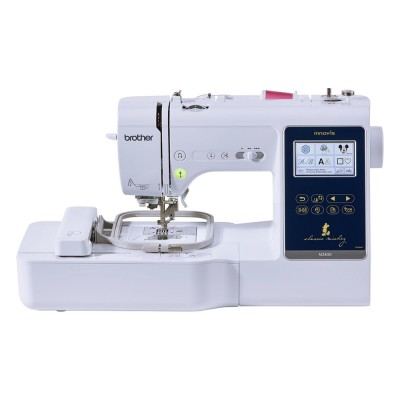 Masina combinata de cusut si brodat Brother Innov-Is M280D , 181 cusaturi , 125 modele broderie , Display LCD , Alb